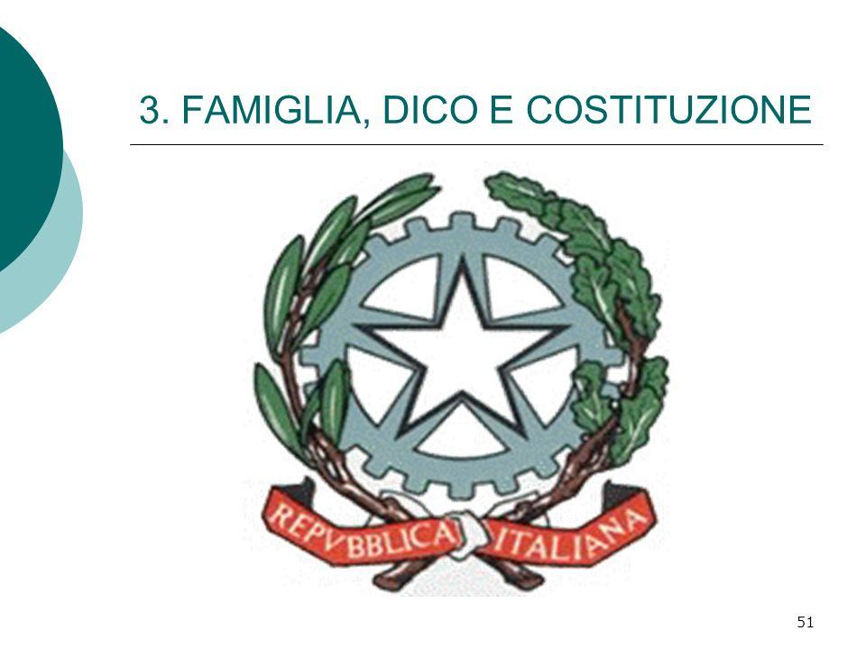 51 3. FAMIGLIA, DICO E COSTITUZIONE