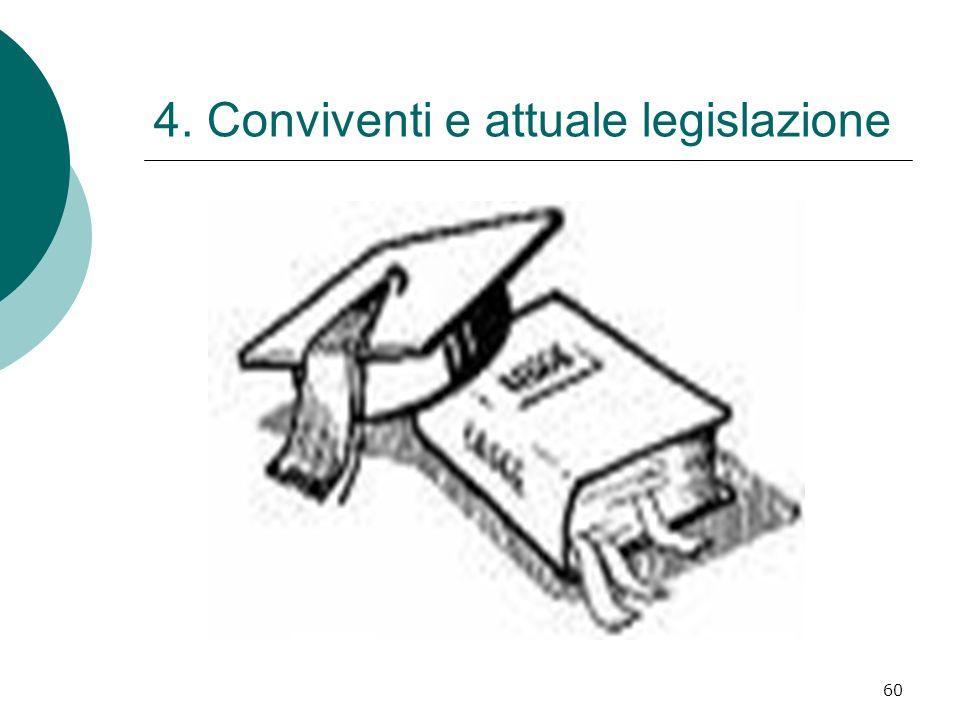 60 4. Conviventi e attuale legislazione