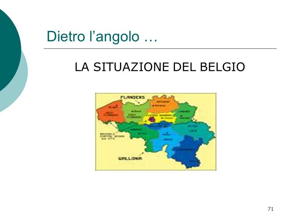 71 Dietro langolo … LA SITUAZIONE DEL BELGIO