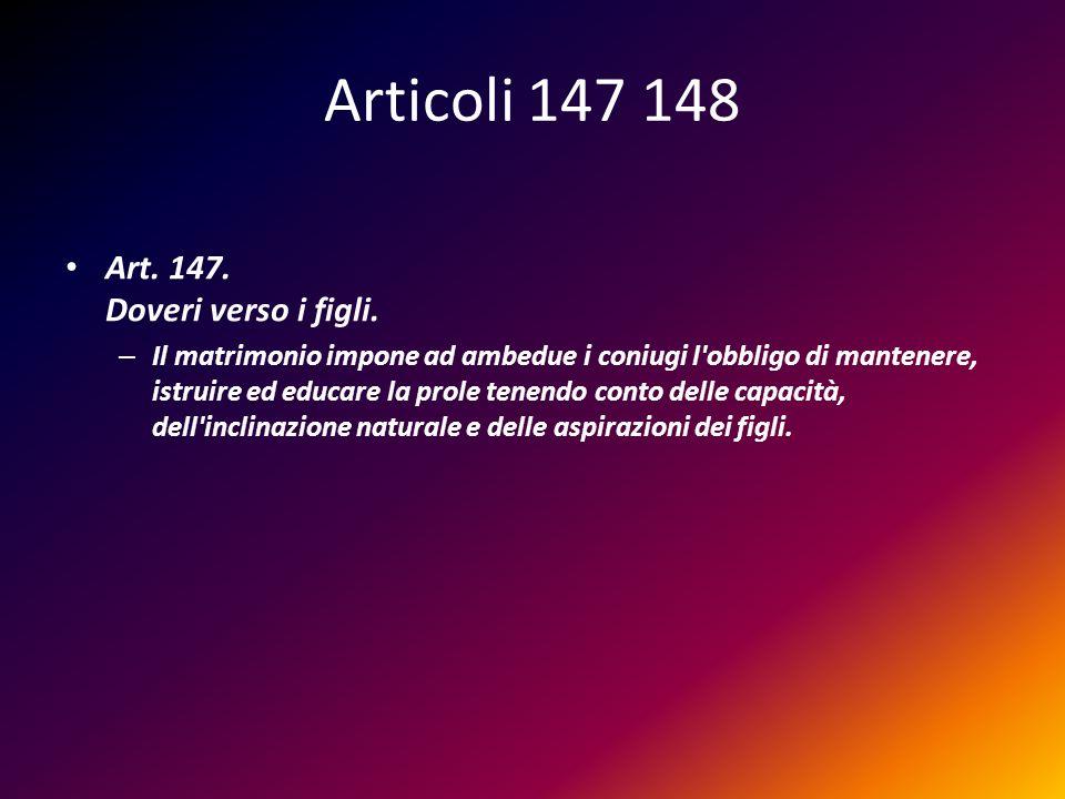 Art.148. Concorso negli oneri.