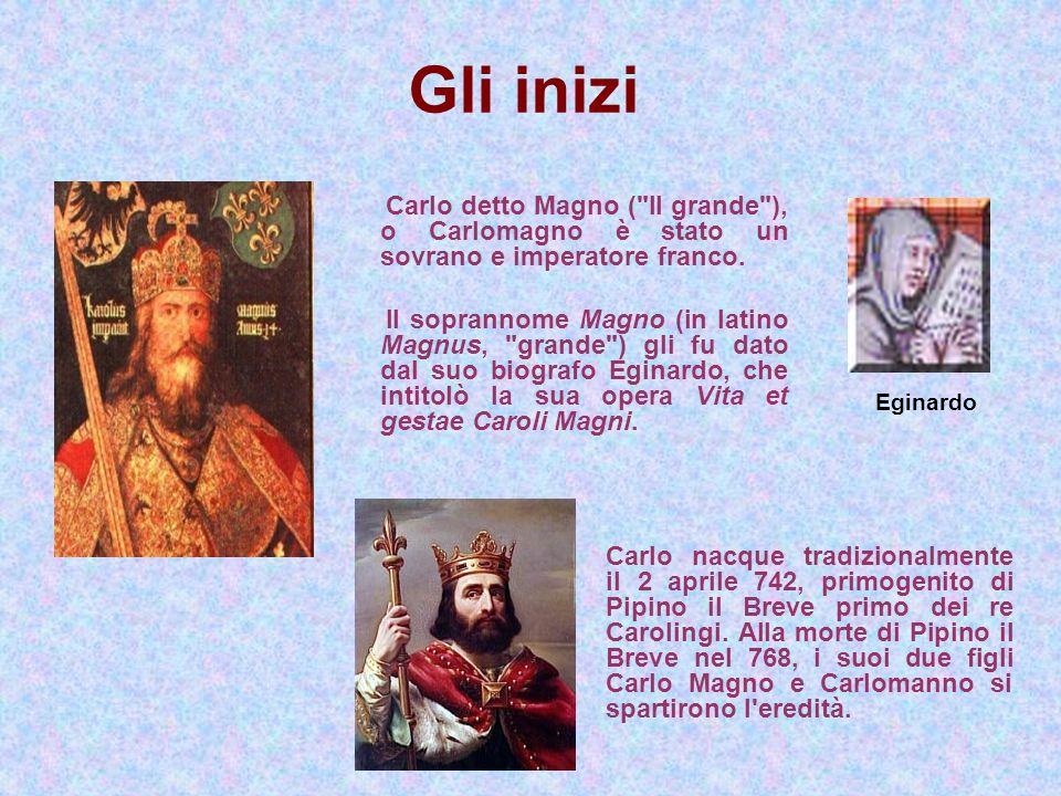 Gli inizi Carlo detto Magno (