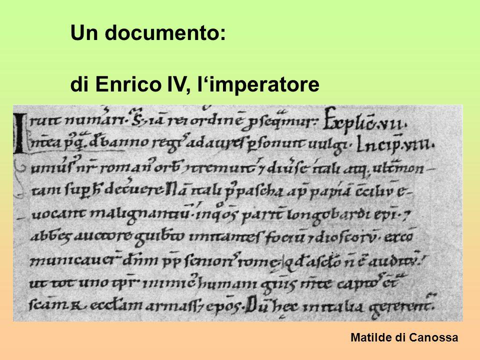 Matilde di Canossa 4. Lumiliazione di Enrico IV Limperatore scese in Italia per parlare col pontifice Gregorio VII, nel gennaio 1077. Gregorio era osp