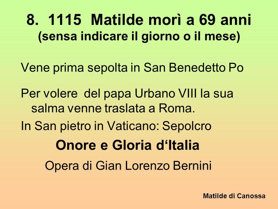 Matilde di Canossa Basilica di San Cesario sul Panaro vicino Castelfranco/Emilia Resa abitabile dai monaci benedettini di Nonantola Nel 1112 la Contes