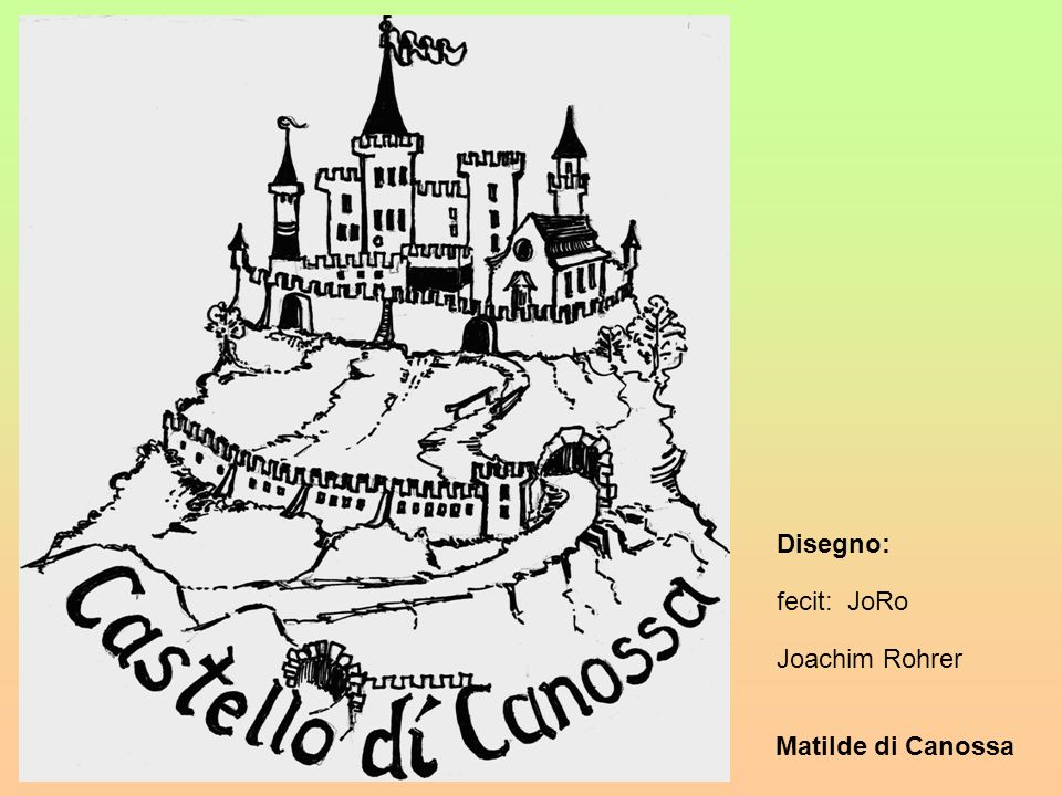Matilde di Canossa In Italiano: Matilde, splendente fiaccola che arde in cuore pio.