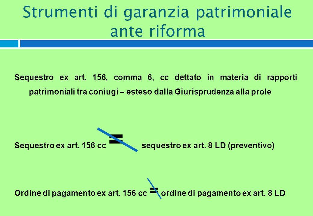 Sequestro ex art. 156, comma 6, cc dettato in materia di rapporti patrimoniali tra coniugi – esteso dalla Giurisprudenza alla prole Sequestro ex art.