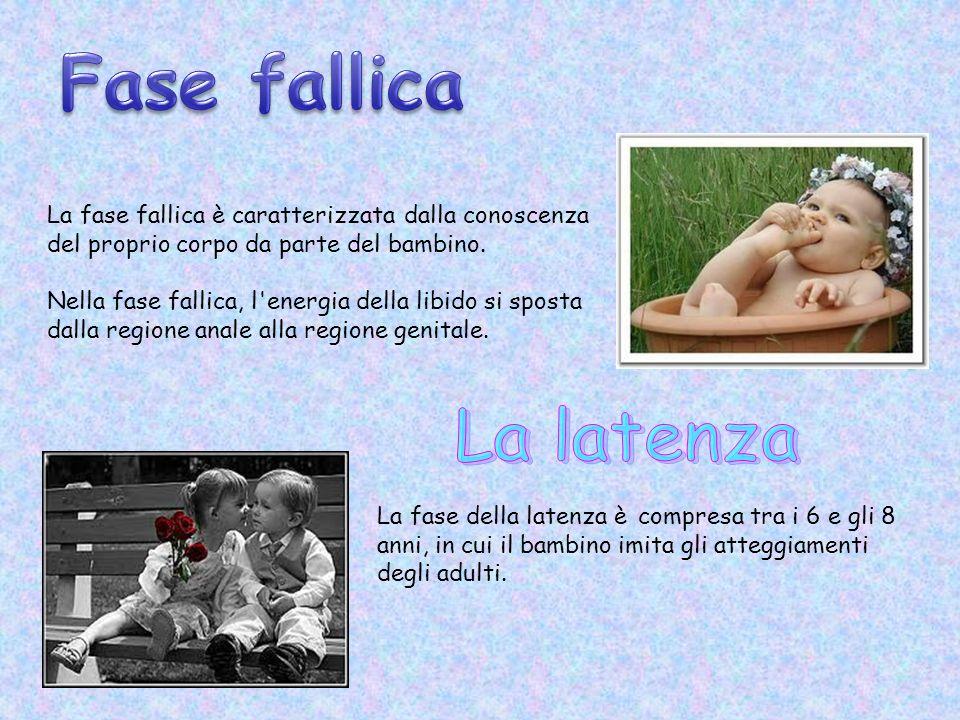 La fase fallica è caratterizzata dalla conoscenza del proprio corpo da parte del bambino.