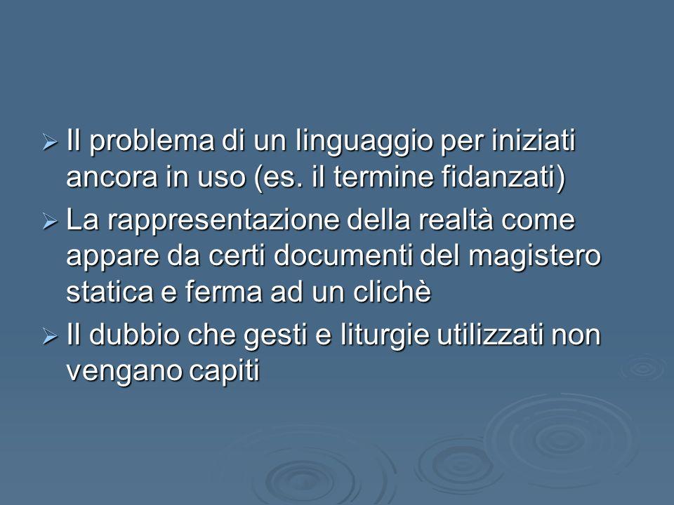 Il problema di un linguaggio per iniziati ancora in uso (es.