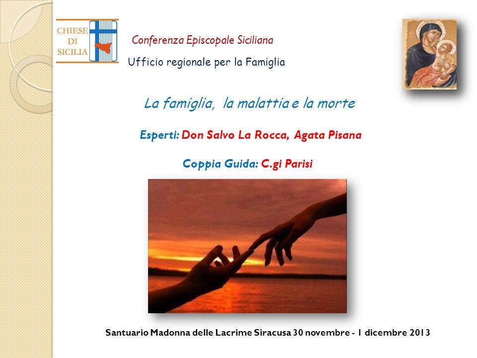 Santuario Madonna delle Lacrime Siracusa 30 novembre - 1 dicembre 2013 Conferenza Episcopale Siciliana Ufficio regionale per la Famiglia La famiglia,