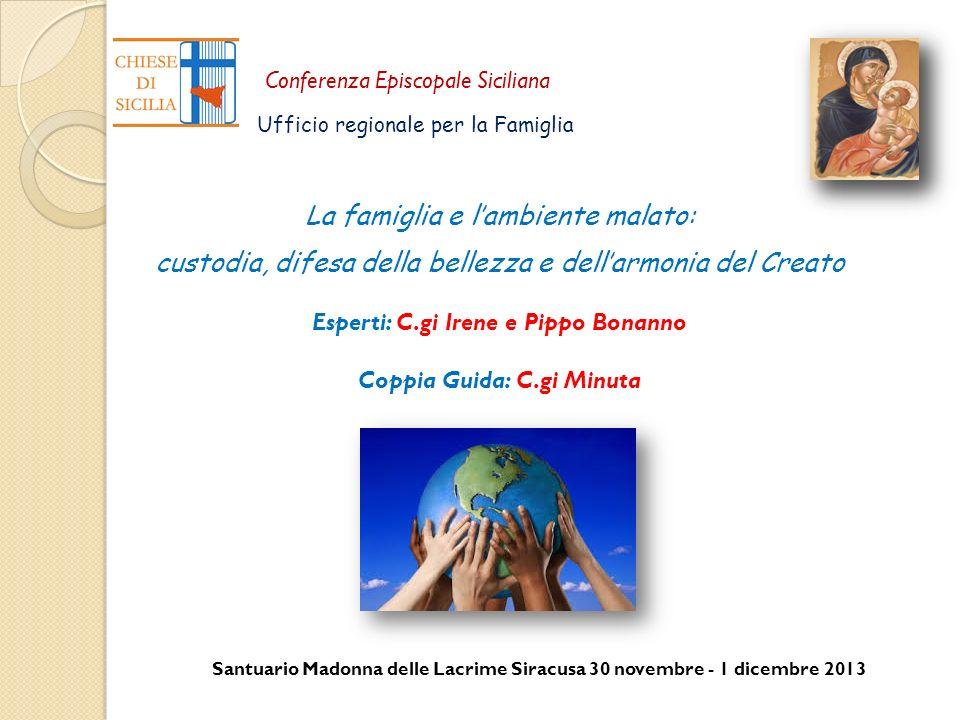 Santuario Madonna delle Lacrime Siracusa 30 novembre - 1 dicembre 2013 Conferenza Episcopale Siciliana Ufficio regionale per la Famiglia La famiglia e