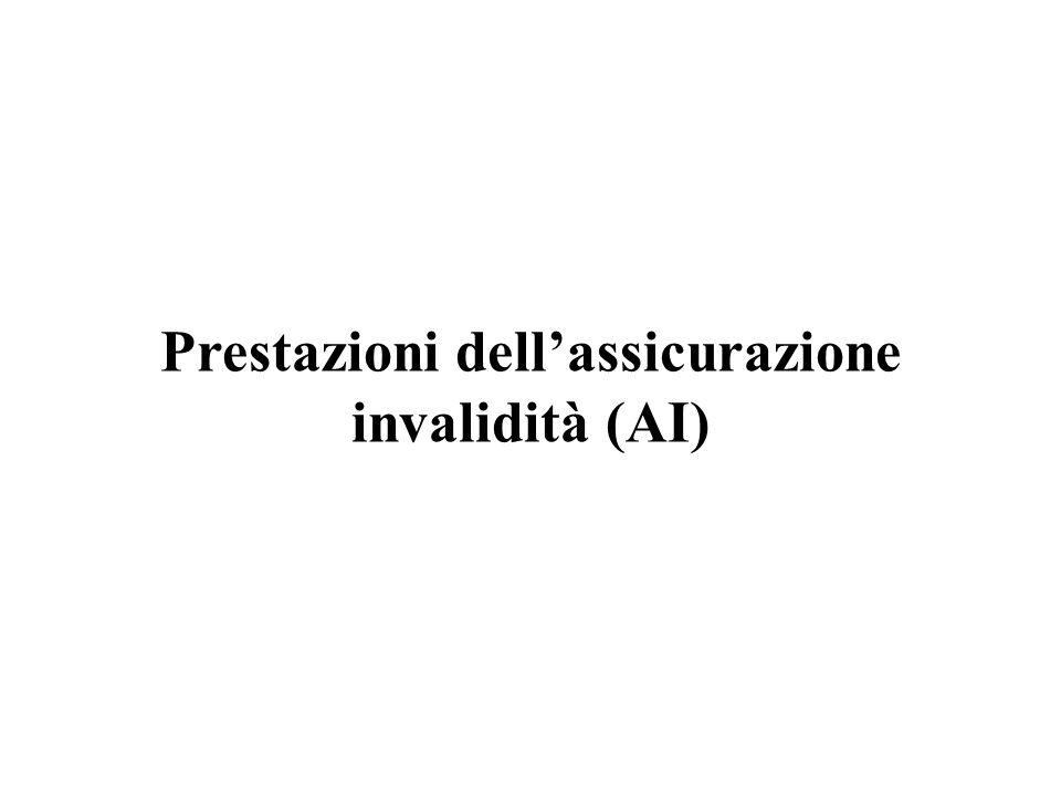 Prestazioni dellassicurazione invalidità (AI)