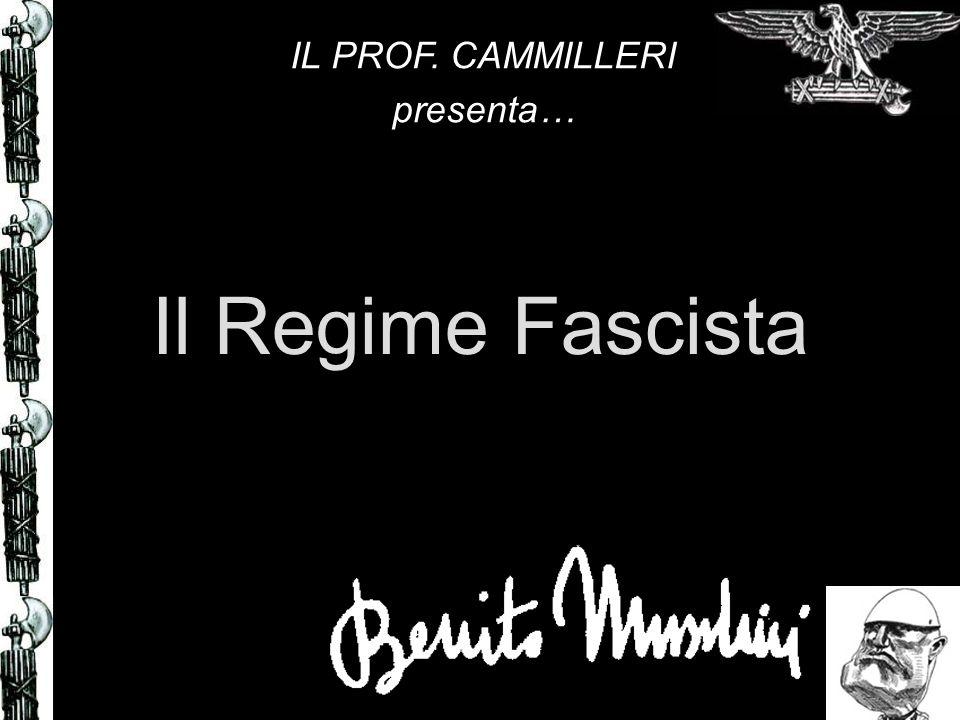 Il Regime Fascista IL PROF. CAMMILLERI presenta…