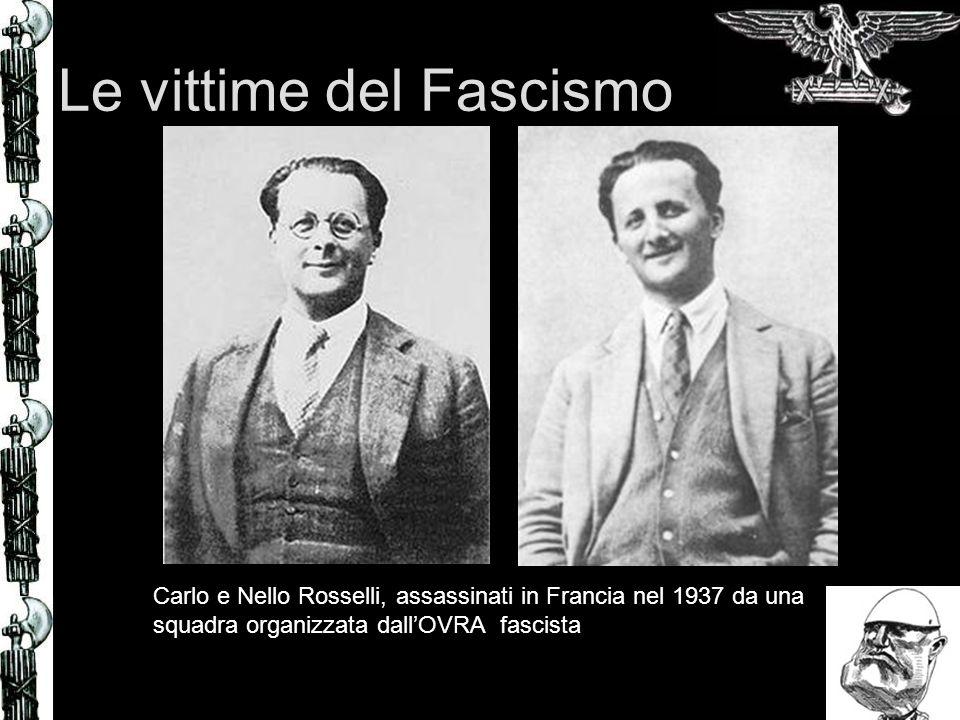 Le vittime del Fascismo Carlo e Nello Rosselli, assassinati in Francia nel 1937 da una squadra organizzata dallOVRA fascista