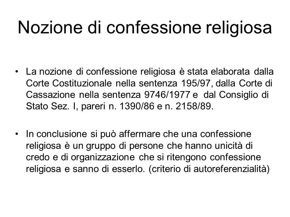 Il testo dellart. 8 Costituzione I loro rapporti sono regolati per legge sulla base di intese con le relative rappresentanze Le rappresentanze sono id