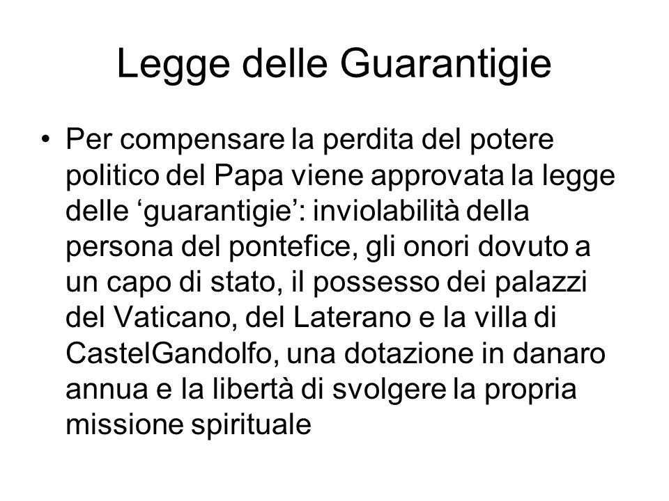 La genesi Rapporti tesi tra Regno e Chiesa in merito ai territori occupati dallo Stato Pontificio Nel 1870, quando lo Stato italiano occupa Roma, nasc