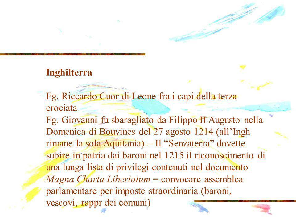 Inghilterra Fg.Riccardo Cuor di Leone fra i capi della terza crociata Fg.