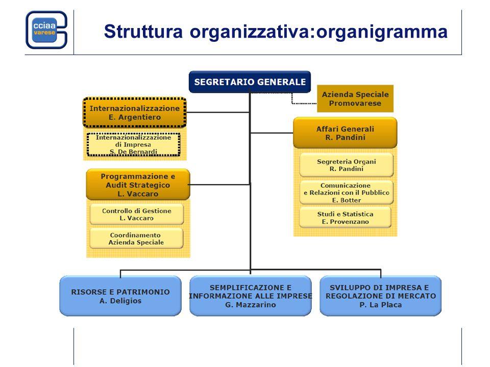 Struttura organizzativa:organigramma