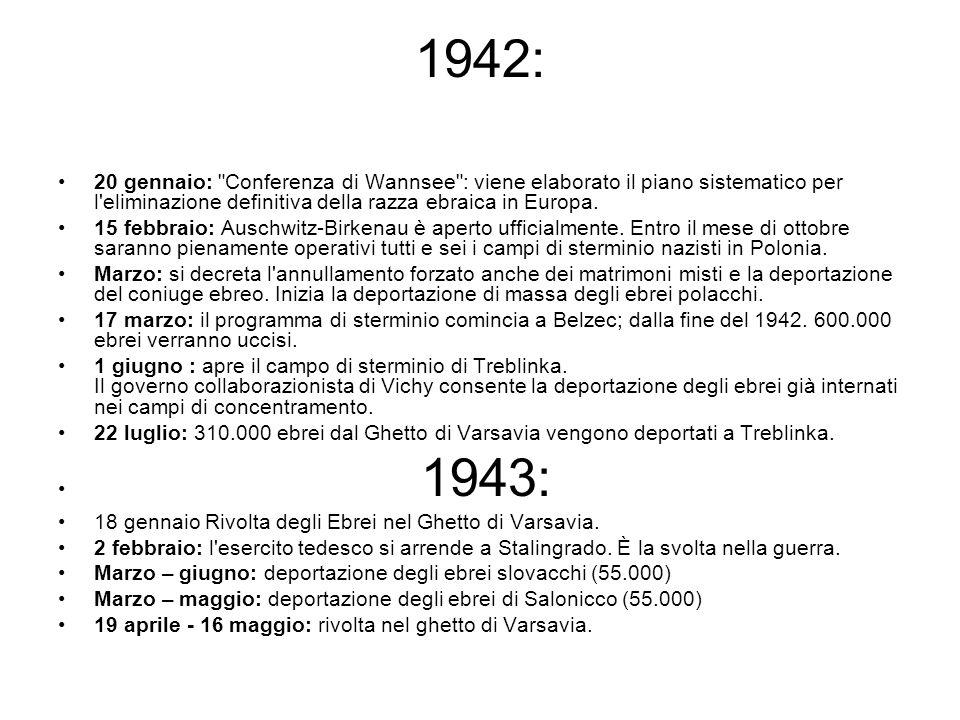 1942: 20 gennaio: