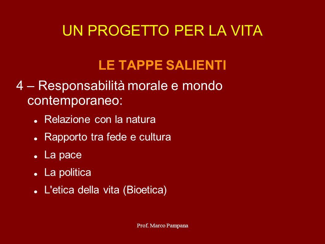 Prof.Marco Pampana Ragione & Religione FONDANO IL PROGETTO PERSONALE a.
