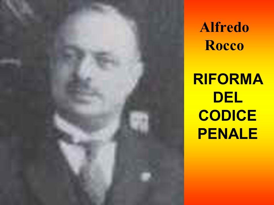 Alfredo Rocco RIFORMA DEL CODICE PENALE