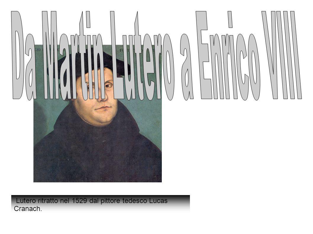 Lutero ritratto nel 1529 dal pittore tedesco Lucas Cranach.