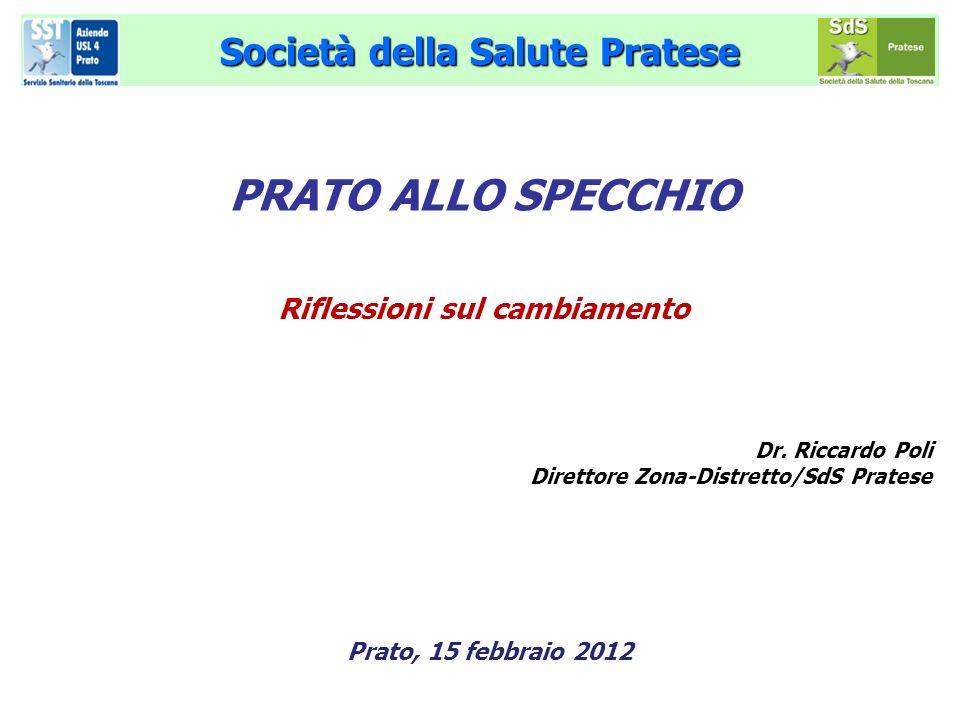 Società della Salute Pratese PRATO ALLO SPECCHIO Riflessioni sul cambiamento Dr. Riccardo Poli Direttore Zona-Distretto/SdS Pratese Prato, 15 febbraio