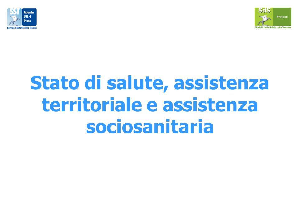 Stato di salute, assistenza territoriale e assistenza sociosanitaria