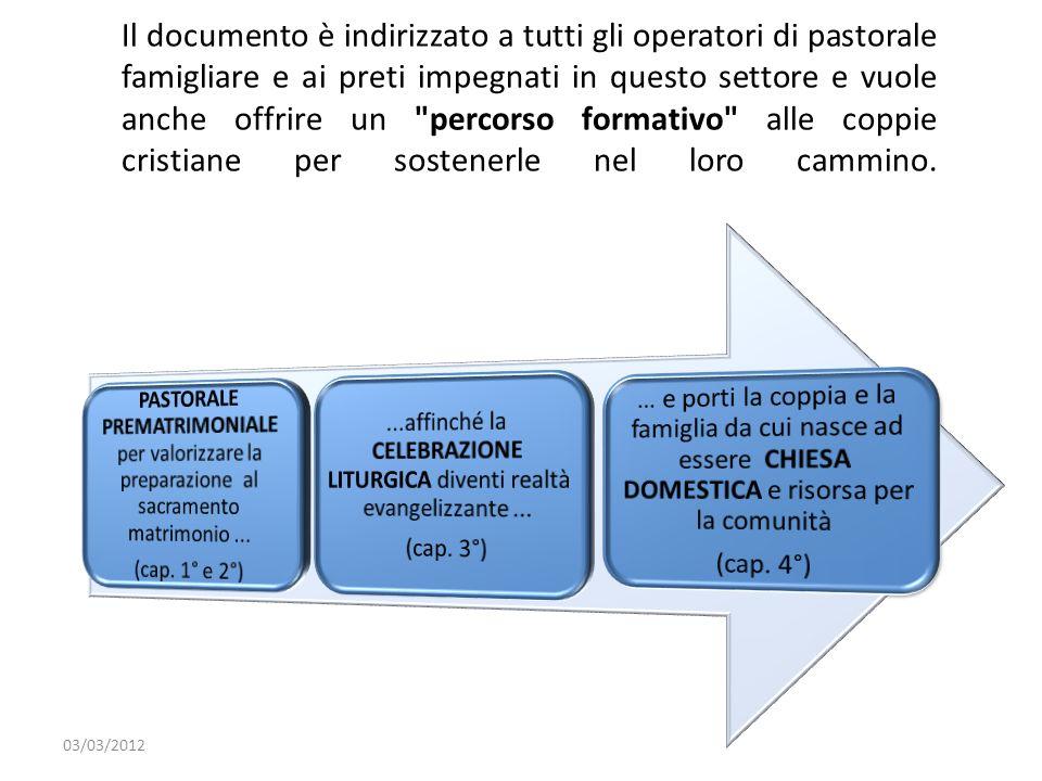Il documento è indirizzato a tutti gli operatori di pastorale famigliare e ai preti impegnati in questo settore e vuole anche offrire un