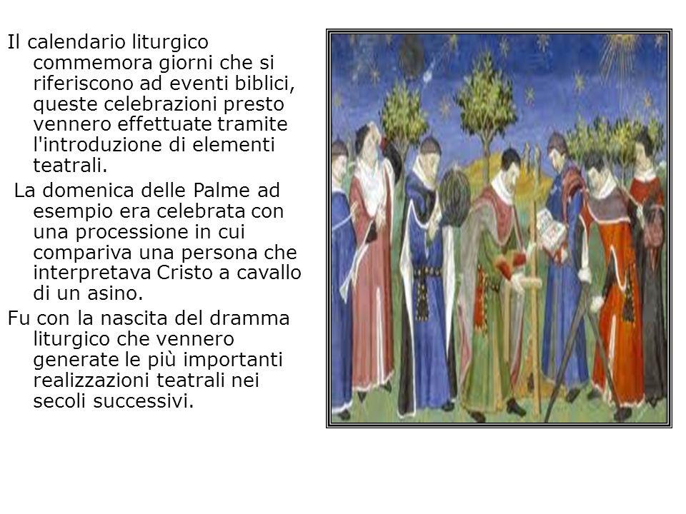 Il calendario liturgico commemora giorni che si riferiscono ad eventi biblici, queste celebrazioni presto vennero effettuate tramite l'introduzione di