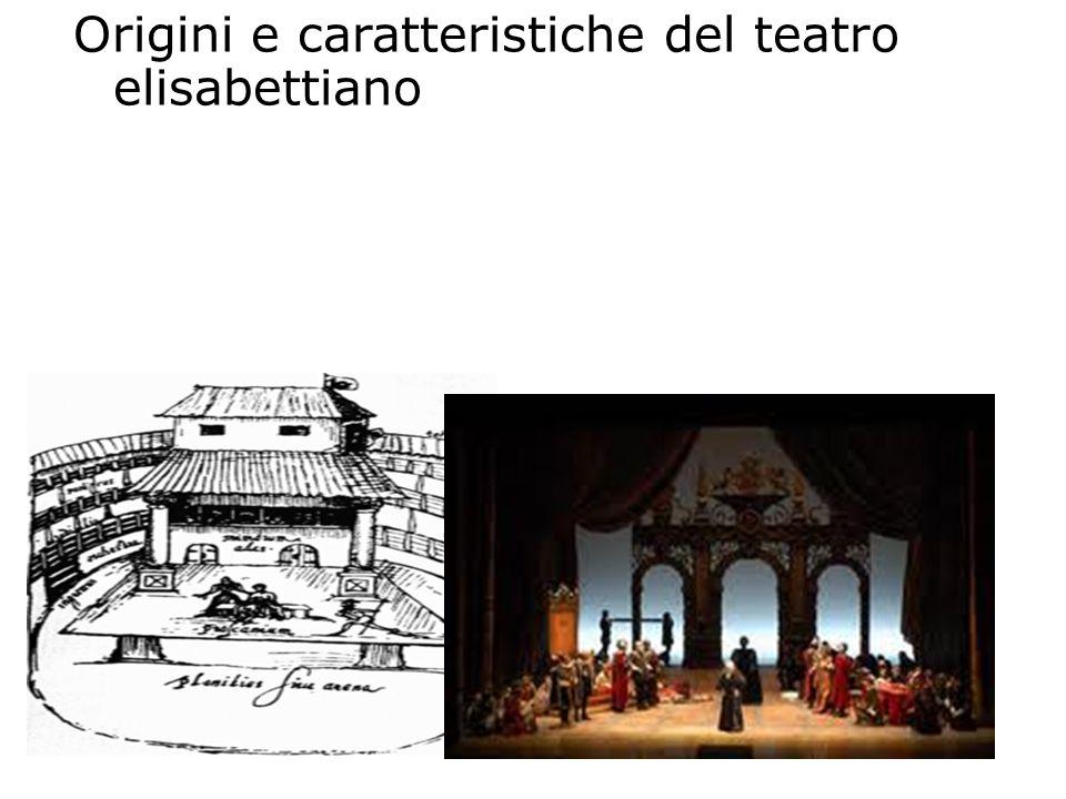 Origini e caratteristiche del teatro elisabettiano Prima del 1576 le opere teatrali venivano rappresentate in case private, in arene e in cortili di l