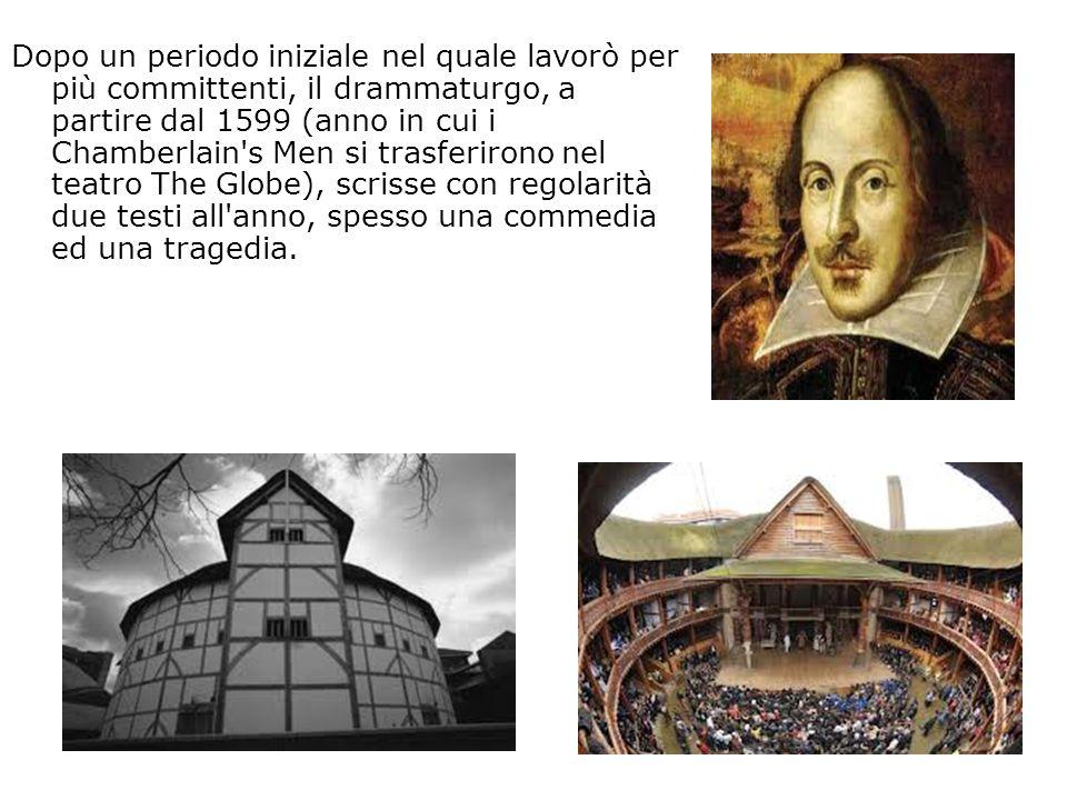 Dopo un periodo iniziale nel quale lavorò per più committenti, il drammaturgo, a partire dal 1599 (anno in cui i Chamberlain's Men si trasferirono nel