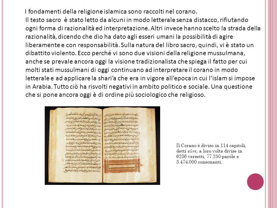 I fondamenti della religione islamica sono raccolti nel corano. Il testo sacro è stato letto da alcuni in modo letterale senza distacco, rifiutando og