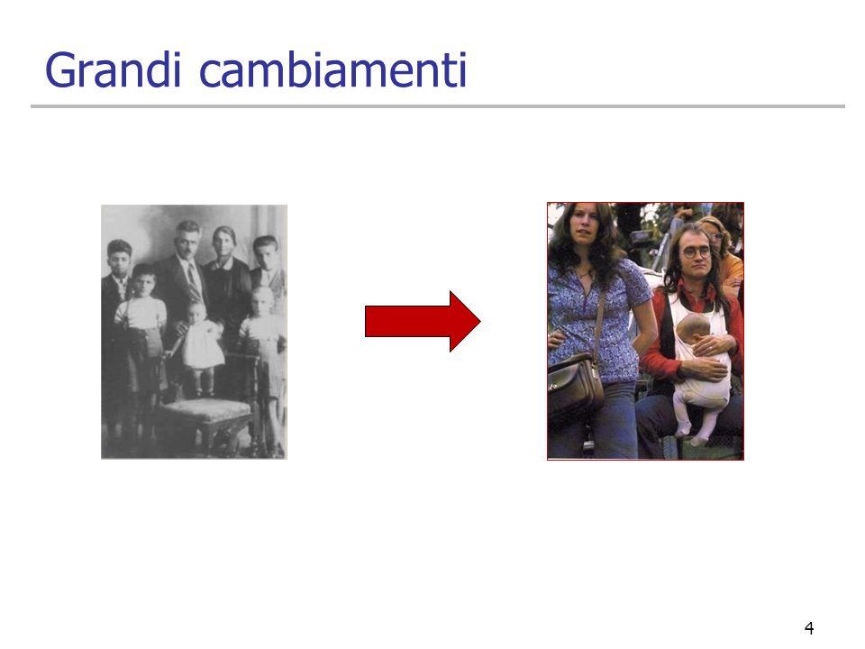 25 I giovani single I giovani single italiani vivono usualmente con i genitori, pur avendo conquistato molta libertà di comportamento, in particolare nella sfera dellespressione della propria sessualità.