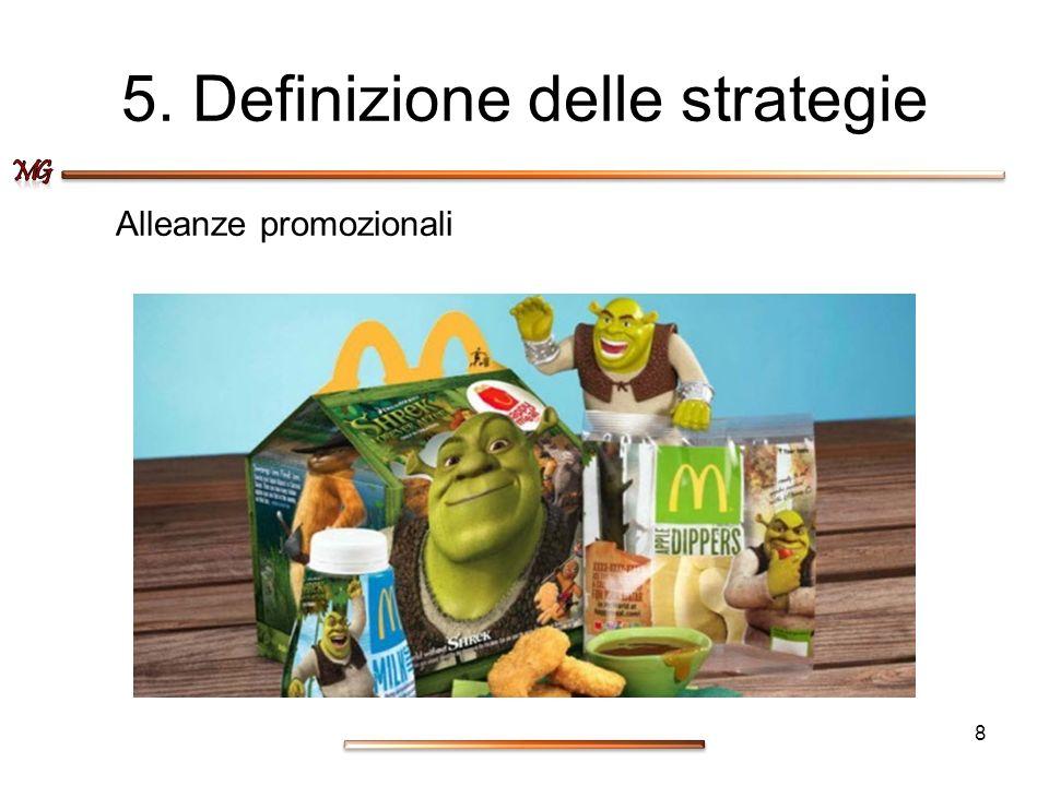 5. Definizione delle strategie Alleanze promozionali 8