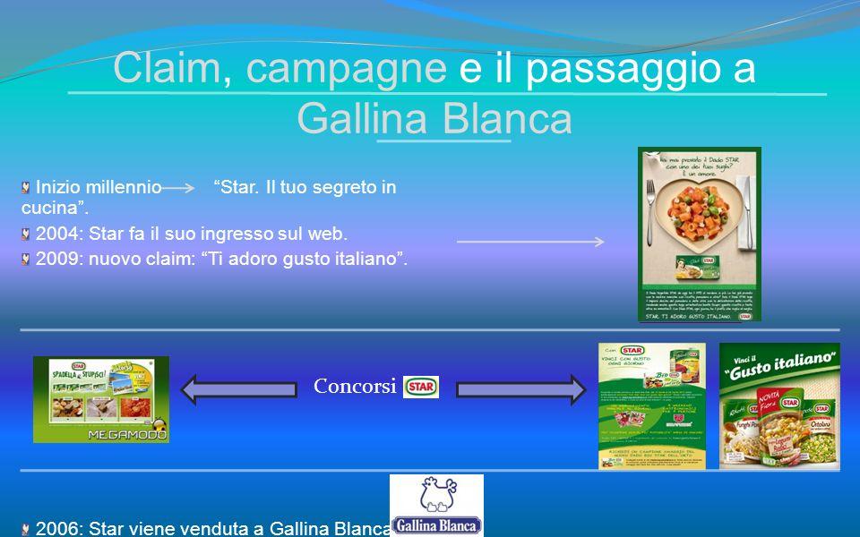 Claim, campagne e il passaggio a Gallina Blanca Inizio millennio Star. Il tuo segreto in cucina. 2004: Star fa il suo ingresso sul web. 2009: nuovo cl