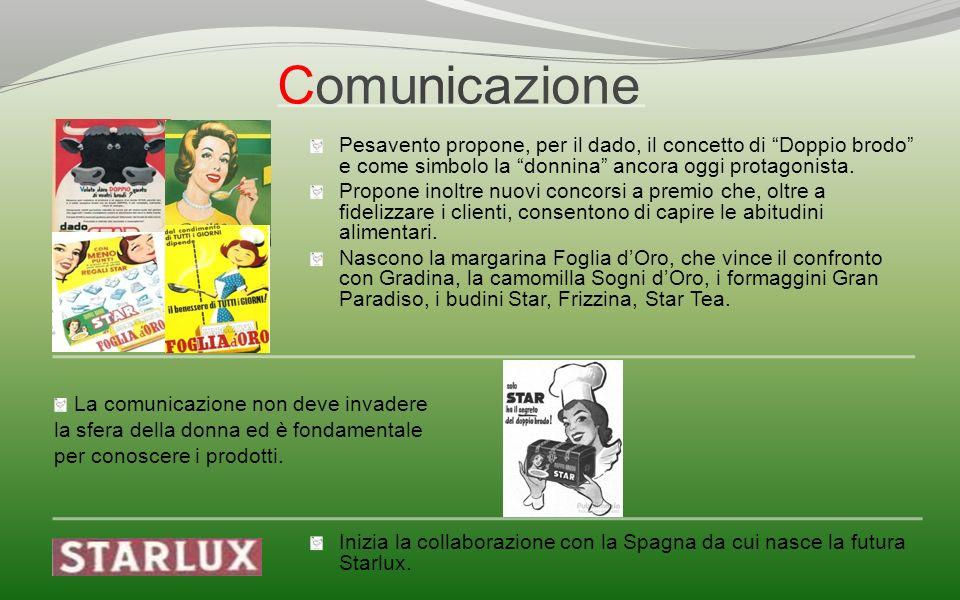 Comunicazione La comunicazione non deve invadere la sfera della donna ed è fondamentale per conoscere i prodotti. Pesavento propone, per il dado, il c