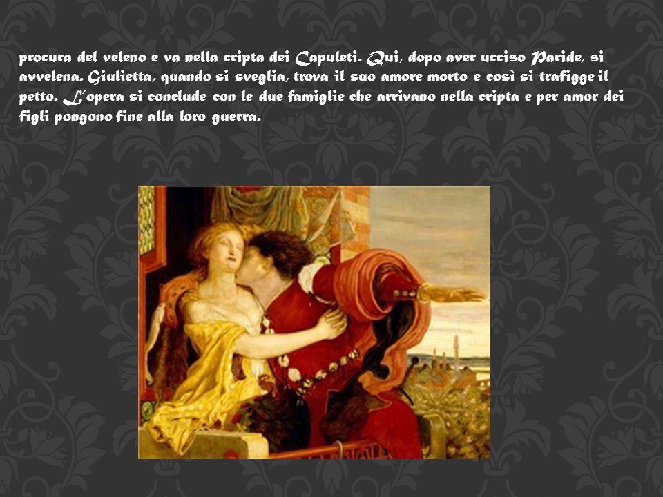 Trama Come ogni opera teatrale, anche Romeo & Giulietta è divisa in atti e presenta un prologo in cui vengono spiegati al pubblico gli antefatti della storia: a Verona, due famiglie, i Montecchi e i Capuleti, sono nemiche da molti anni.