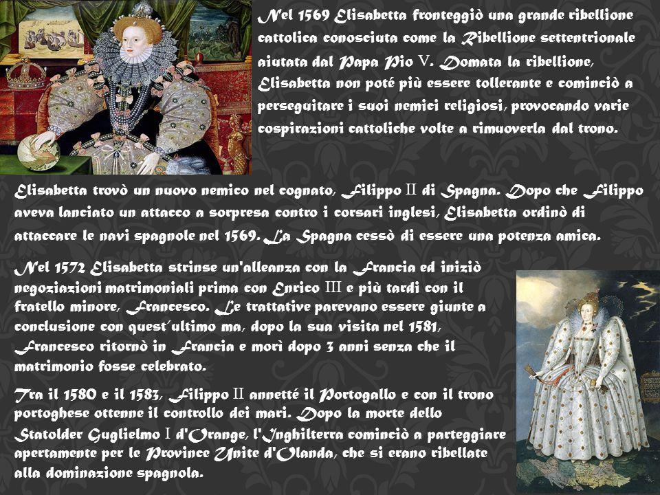 Durante il regno di Elisabetta furono prese in considerazione 3 linee di successione: Margherita Tudor (sorella maggiore di Enrico VIII ) ed erede in