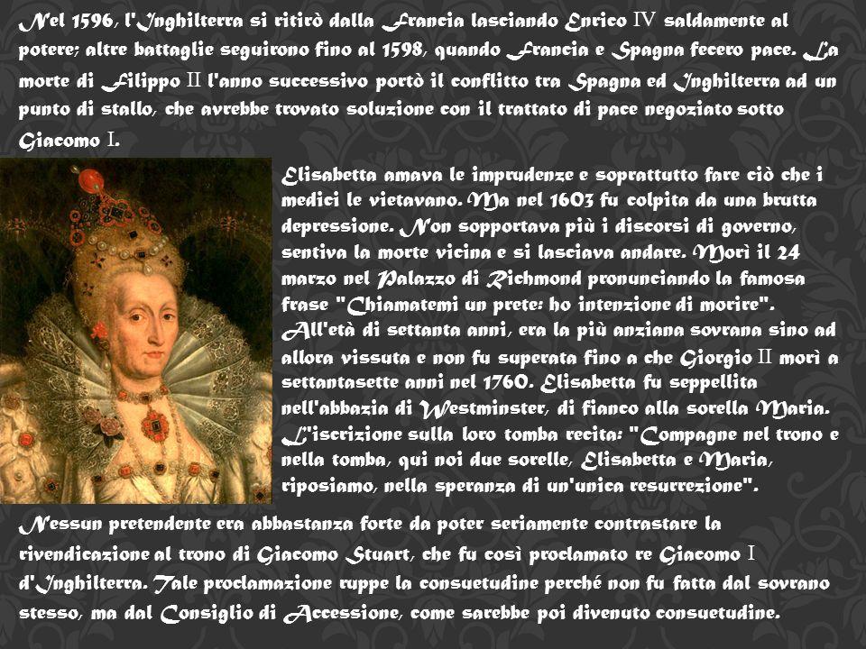 Questo, assieme al conflitto economico con la Spagna e la pirateria inglese contro le colonie spagnole, condusse allo scoppio della guerra anglo-spagnola nel 1585 e all espulsione dell ambasciatore spagnolo per la sua partecipazione ai complotti contro Elisabetta.