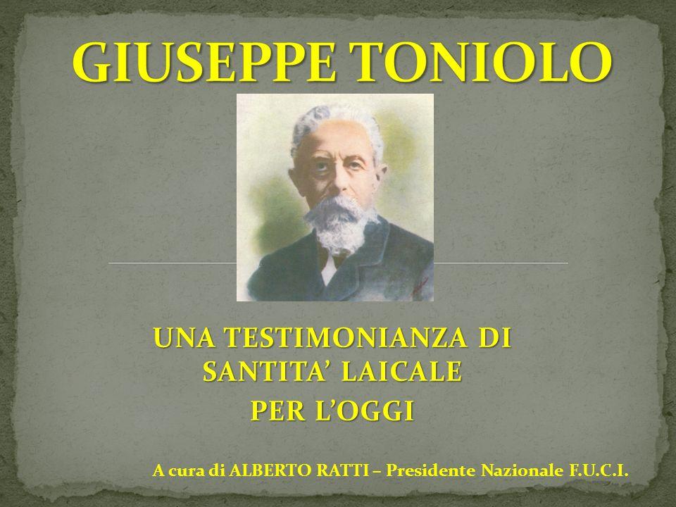 Toniolo lavorò agli statuti di Firenze (1905) e fu Presidente dell Unione Popolare, che insieme con l Unione economico-sociale e l Unione elettorale, rappresentava la nuova configurazione del laicato organizzato.