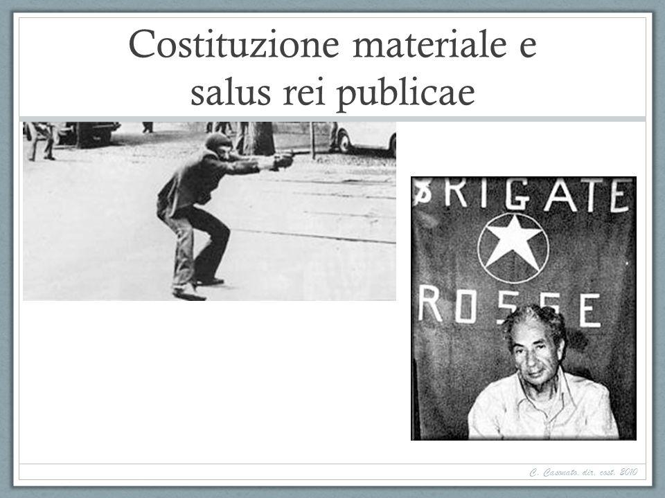 Costituzione materiale e salus rei publicae C. Casonato, dir. cost. 2010