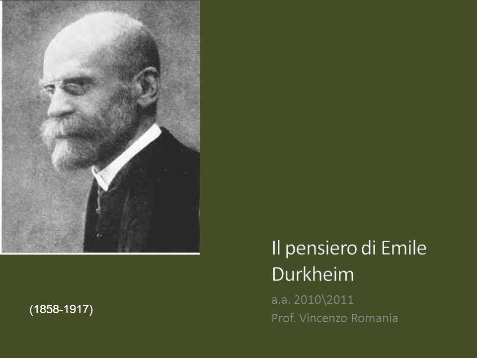 Anche per Durkheim, come per Marx, il mutamento sociale è collegato alla divisione del lavoro, ma questa non rappresenta il fattore unico che produce il processo.