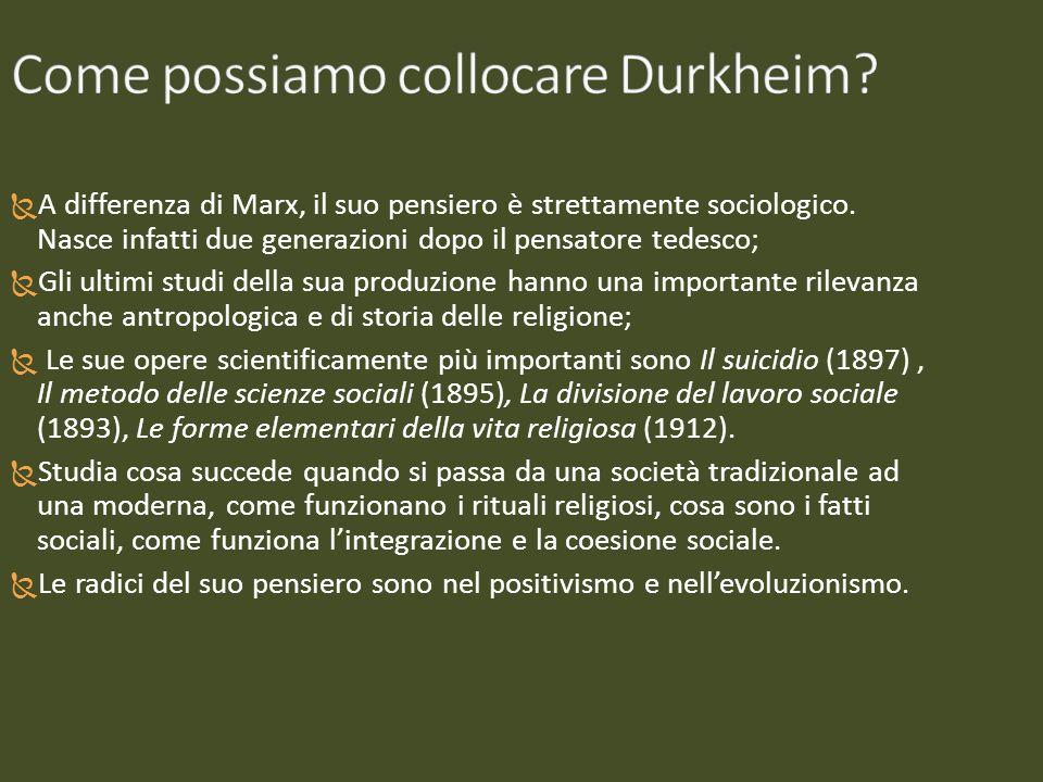 A partire dallo studio di un sociologo tedesco, Schaffle, Durkheim elabora per la prima volta la metafora organicista della vita sociale.