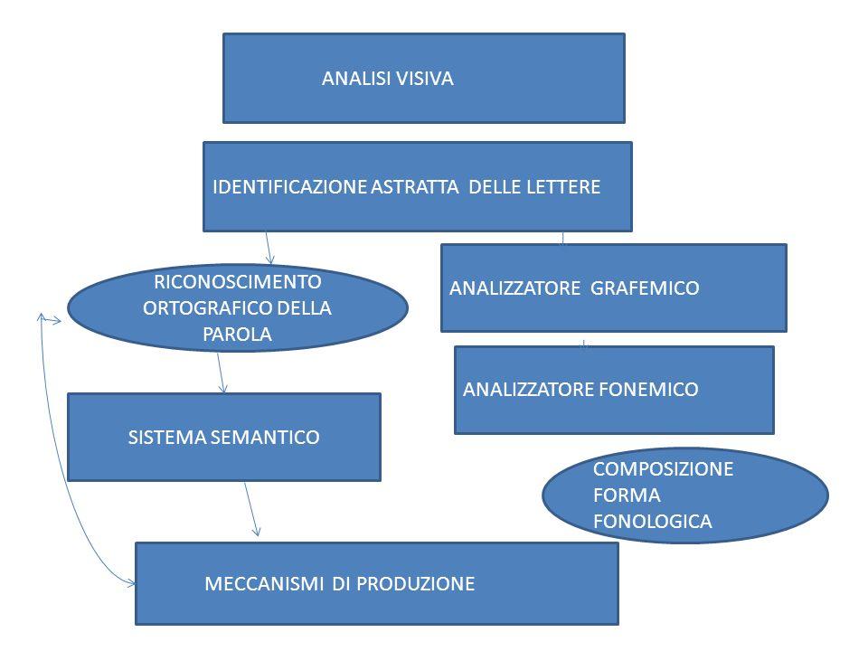 DISORTOGRAFIA SUPERFICIALE ERRORI COME SCIENZA / SCIENZA LAGO / LAGO INCAPACITA DI USARE LA VIA LESSICALE FONOLOGICA ERRORI COME CASA/ CADA INCAPACITA DI UTILIZZARE LA VIA FONOLOGICA ( NON PAROLE, PAROLE DIFFICILI