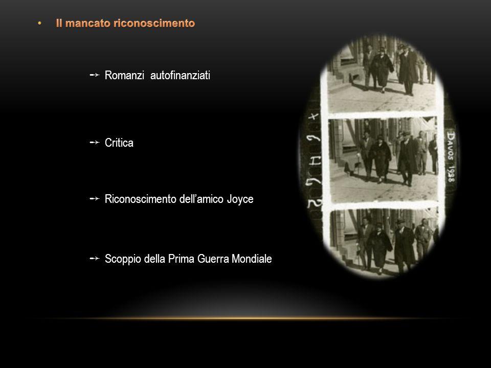 Scoppio della Prima Guerra Mondiale Riconoscimento dellamico Joyce Romanzi autofinanziati Critica