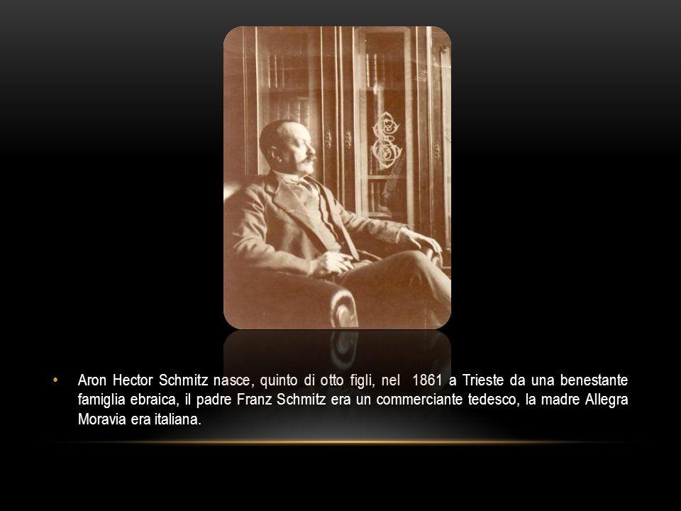 Aron Hector Schmitz nasce, quinto di otto figli, nel 1861 a Trieste da una benestante famiglia ebraica, il padre Franz Schmitz era un commerciante ted