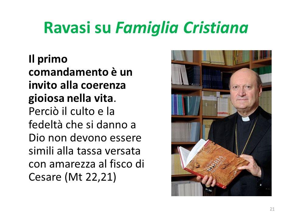 Ravasi su Famiglia Cristiana Il primo comandamento è un invito alla coerenza gioiosa nella vita.