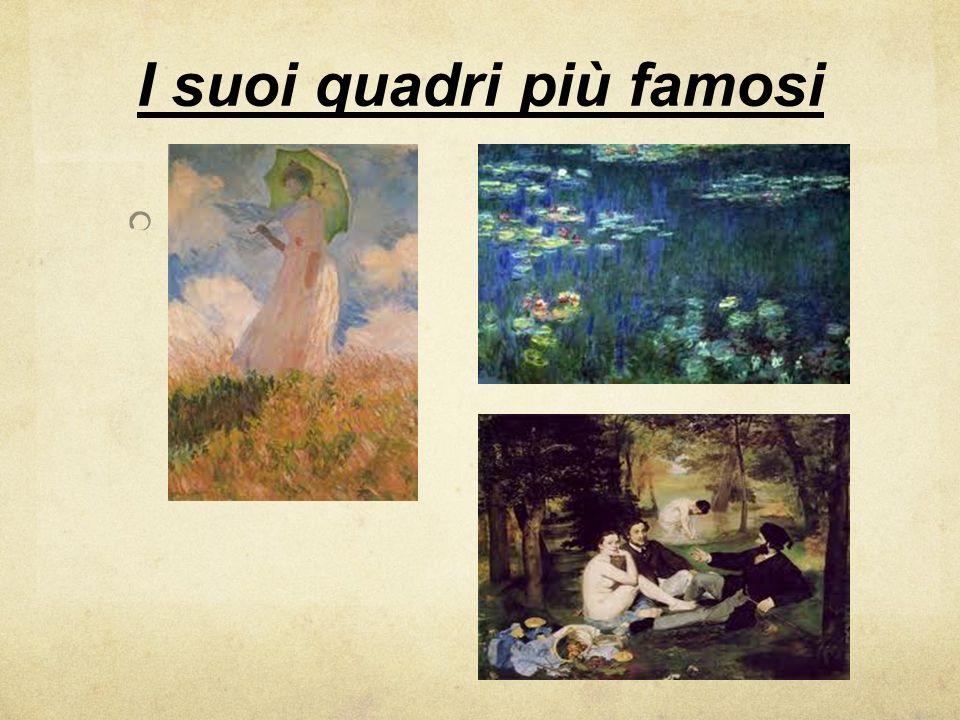 I suoi quadri più famosi