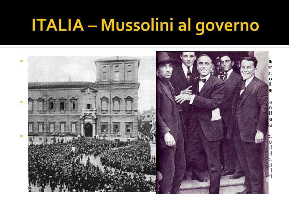 Il Presidente del Consiglio Giolitti, in occasione delle elezioni del 21, propose a Mussolini una coalizione con liberali e democratici, sicuro che, u