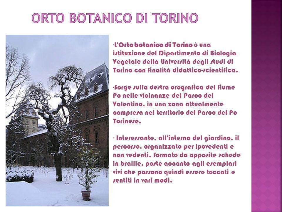 -L'Orto botanico di Torino è una istituzione del Dipartimento di Biologia Vegetale della Università degli studi di Torino con finalità didattico-scien