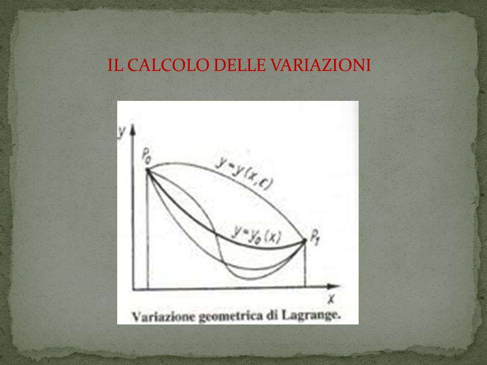 IL CALCOLO DELLE VARIAZIONI